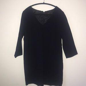 J. Crew Dresses - J Crew Navy Wool Crepe V Neck Dress